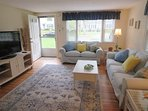 Open living area with a 42' flat screen TV - 37 Jacqueline Circle West Yarmouth Cape Cod New England Vacation Rentals