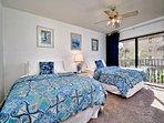2nd bedroom has 2 queen beds.