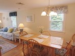 Dining area located off of the kitchen - 37 Jacqueline Circle West Yarmouth Cape Cod New England Vacation Rentals