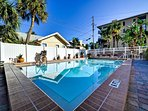 Surfside pool is great place to relax in the sun.