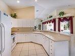 Large gourmet kitchen!