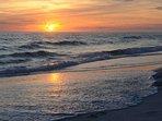 Enjoy an evening walk and beautiful gulf sunsets!