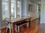 Spacious Seating at the Farmhouse Style Dining Table -