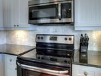 Ceramic Stove and Microwave for Preparing Fresh Meals during your visit -