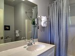 Master Bathroom features shower/tub combo