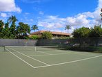 Tennis courts and equipment rentals on site