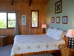 The south bedroom suite has a quality platform queen bed