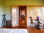 The two bedroom suites are positioned at opposite ends of the house for maximum privacy