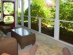 Lovely green garden views from the lanai
