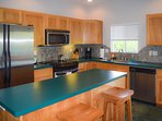 Spacious, modern kitchen has all the conveniences