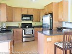 Large, modern kitchen with all the amenities