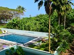 Mauna Loa Shores' pool, deck and lounge chairs