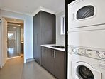 Brand new laundry with European appliances