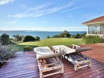 huge deck off living area -best spot in Culburra !