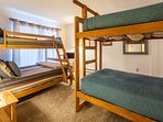 Bedroom #2- Bunk Room- 2 bunk beds ( twin over twin and twin over full)- flat screen tv