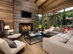 Living Room with views to Gore Creek