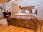 Bedroom #1 – Main Level – Master Suite – King Bed – Private Full Bath