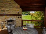 Gazebo with wood burning fireplace and AMAZING views!