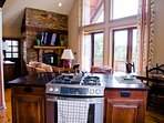 Kitchen open to main level living aarea