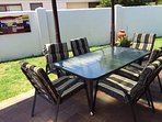 Outdoor patio with gas bbq