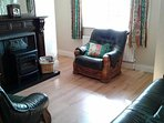 Cozy sitting room with 32' flat screen TV, DVD player, Playstation 2, Sky TV and Free Wi-fi