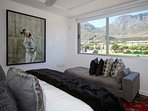 Bedroom Two with views of Table Mountain and Lions Head.