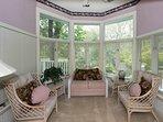 Beautiful sitting room/nook overlooking deck