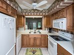 Kitchen - fully equipped, tile floor