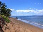 White sandy beach in front of Luana Kai