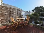 Kick back and relax on the outside terrace