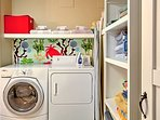 Keep your clothes fresh and clean with the convenient in-unit laundry machines.
