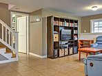 The kids will love hanging out in the finished basement!