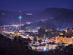 Views Of Gatlinburg At Night From Your Private Balcony