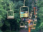 Ride To The Mountain top In The Chairlift in Gatlinburg