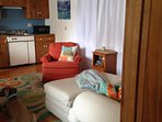 Cottage livingroom/efficiency kitchen