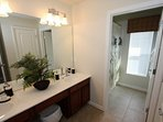Hall Shared Bath wih Shower and Tub Combination