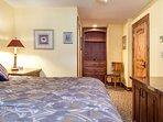 Master bedroom comes with en suite bath.