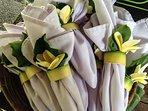 Organic napkin rings