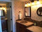 Master bathroom vanity area