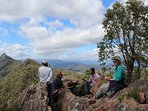 Brunch and sparkling on the peak of the Cathedral Range, breath taking.
