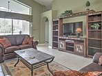 Look forward to kicking back and relaxing on the couches in the comfortable, luxurious living area.