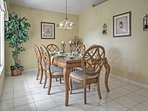 Enjoy fancier meals around the nice dining table.