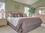 The heads of the household will enjoy many great nights of sleep in this comfy king-sized bed.