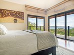 The master bedroom provides easy access to a spacious balcony!