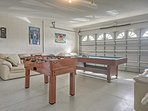 Bring out your competitive side in the garage that's been converted into a game room!