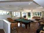 Game Room 25'x19' with entrance and access to the elevator /w Panoramic views