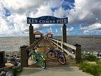Take a bike ride to the pier