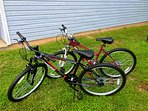 We provide 2 new adult bikes for your use