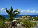 Panoramic  View of Atlantic Ocean  and St. Barths from the villa grounds