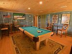 Game Room - connelly slate pool table - huge flat screen tv -card table - games!